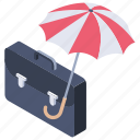 business assurance, business insurance, business protection, business security, indemnification icon