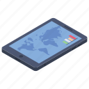 gps, online geographic, online map, online navigation, tracing icon