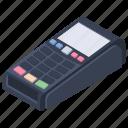 cash register, cash till, cashier machine, pos terminal, swipe machine icon