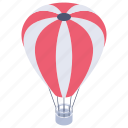hot air balloon, gas balloon, weather balloon, fire aircraft, fire balloon icon