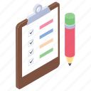 approved list, checked list, product list, signed policy, work management icon