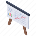 business analysis, data chart, graphical representation, infographic, strategic graph icon