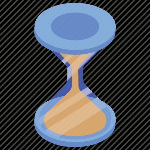 ancient clock, hourglass, sandglass, timepiece, vintage timer icon