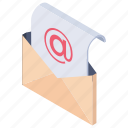email envelope, letter communication, message, open envelope, open letter icon