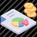 analytics, circle chart, finance analysis, pie chart, pie graph icon