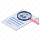 cv search, employment, human resource, recruitment, searching staff icon