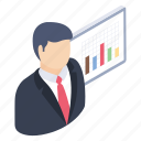 business analysis, business presentation, finance, graphical representation, statistics icon