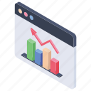 analytics, bar chart, business growth, graph, infographics icon