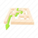 cartoon, concept, exit, labyrinth, maze, puzzle, solution icon