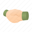 cartoon, contract, deal, hand, handshake, meeting, partnership icon