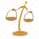 balance, gold, judgment, justice, law, scales, weight icon