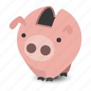 bank, box, debt, money, pig, piggy, save icon