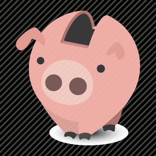 bank, box, debt, money, pig, piggy, save icon