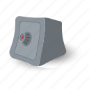 box, business, finance, grayscale, lock, safe, safety icon