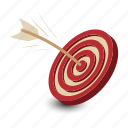 aim, business, center, dart, dartboard, game, target icon