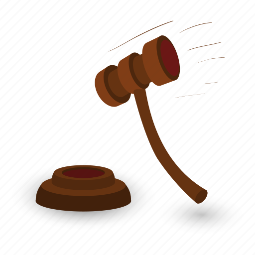 auction, gavel, justice, law, lawyer, legal, verdict icon