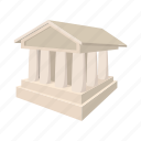 bank, building, business, cartooon, finance, money, sign icon