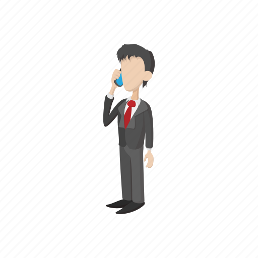 business, businessman, cartoon, man, mobile, people, phone icon