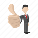cartoon, hand, human, ok, person, positivity, success icon