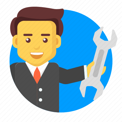 business, businessman, character, service, solution, support icon