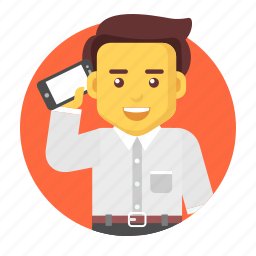 business, businessman, calling, character, contact icon
