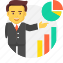 analytics, business, chart, growth, piechart, report icon