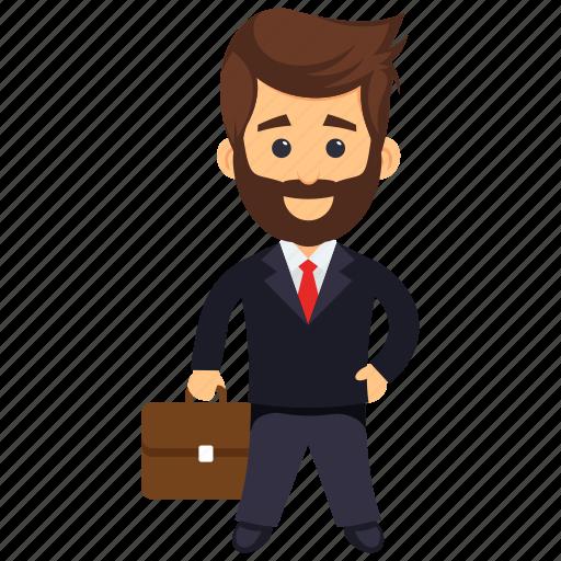 businessman, businessperson, dealer, investor, trader icon