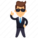 business character, businessman giving thumbs up, friendly businessman, happy businessman, successful businessman icon