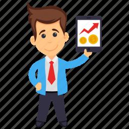 accountant, analyst, analyzer, business analyst, data scientist icon