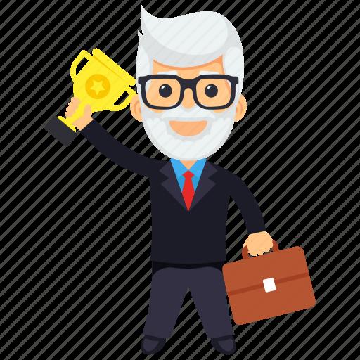 award winning businessman, business award, businessman award, businessman of the month, businessman of the year icon