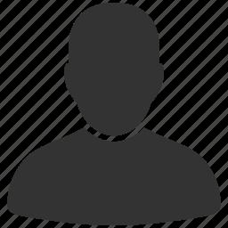 avatar, client, customer account, male, man, person, user profile icon