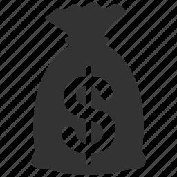 balance, banking, dollar, finances, invest, money bag, rich icon