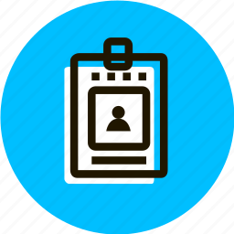 access, badge, grid, identification, personality icon