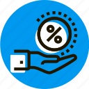 a, arm, get, grid, hand, percent, percentage icon