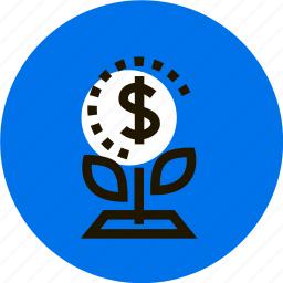 grid, money, money tree, plant, prosperity, tree icon