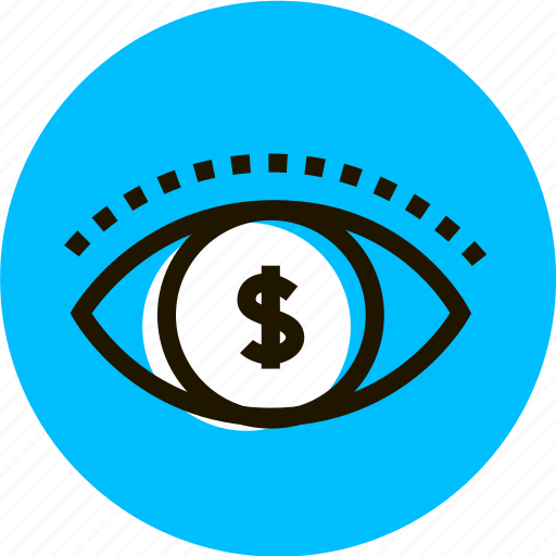 business, eye, grid, money, see, view icon