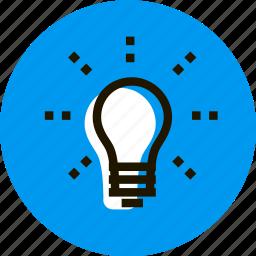 business, grid, idea, lamp, light, shine icon