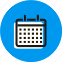 calendar, date, grid, month, schedule, year icon