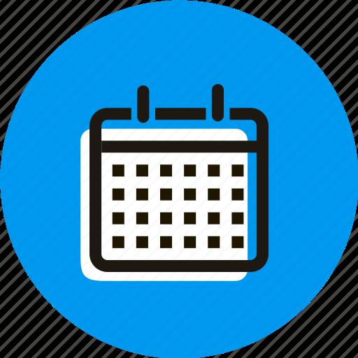 calendar, date, grid, month, schedule, year icon