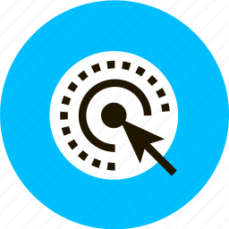 arrow, click, grid, item, pointer, target, touching icon