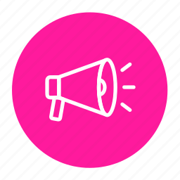 advertising, announcement, bullhorn, business, communicate, promote icon