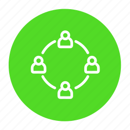 business, community, group, network, organization, team icon