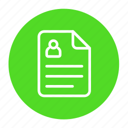 access, account, business, details, document, profile icon