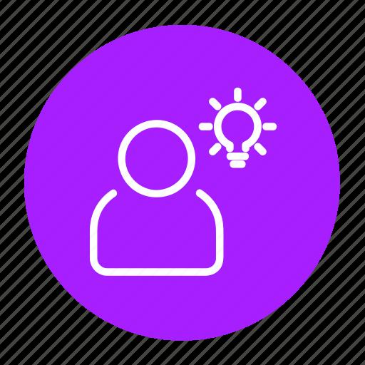 bulb, business, client, creative, idea, think icon