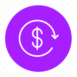 business, charge back, finance, money, refund, revert icon