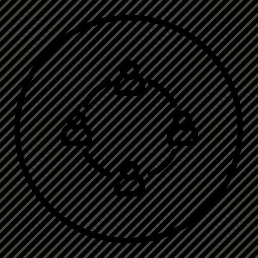 business, community, group, network, organization, team icon
