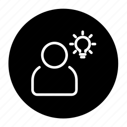 bulb, business, client, creative, idea, think icon
