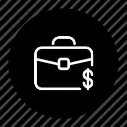 bag, business, cash, dollar, money, suitcase icon