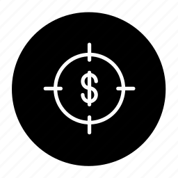 aim, business, finance, goal, money, target icon