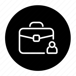account, briefcase, business, customer, portfolio, profile icon